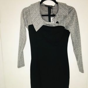 Dresses & Skirts - Small new black and grey long sleeve dress